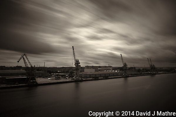 Clouds in Motion. Gdansk Port. Image taken with a Leica X2 camera and 24 mm lens. (David J Mathre)