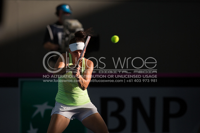 Casey Dellacqua (AUS), April 20, 2014 - TENNIS : Fed Cup, Semi-Final, Australia v Germany. Pat Rafter Arena, Brisbane, Queensland, Australia. Credit: Lucas Wroe (Lucas Wroe)
