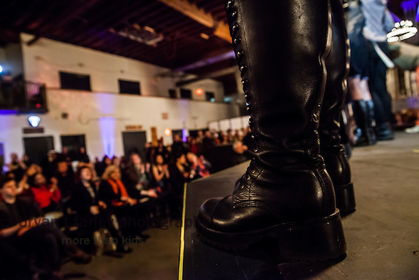 """Bay Area fashion designers present The Crucible's 15th Annual """"Hot Couture 2014: The Fusion of Fashion & Fire"""" on Friday, January 10 and Saturday, January 11, 2014. The Crucible is an Oakland, California non-profit art education facility. (Bryan Farley)"""