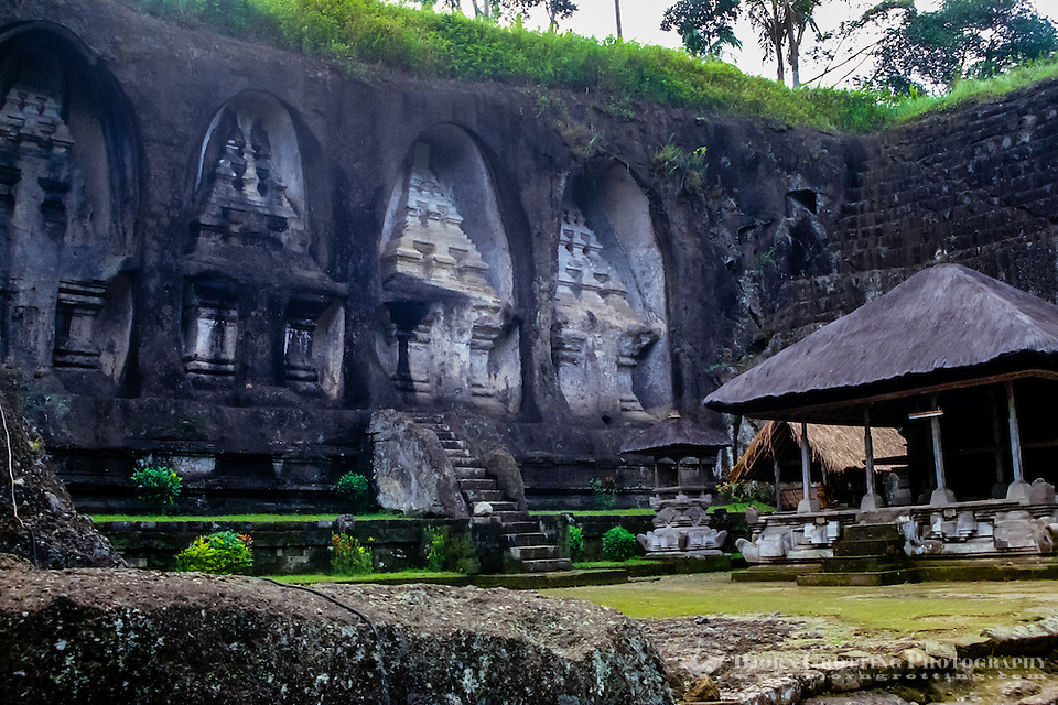 Bali, Gianyar, Gunung Kawi. An 11th century temple complex close to Tampaksiring. The western part of Gunung Kawi. (Photo Bjorn Grotting)