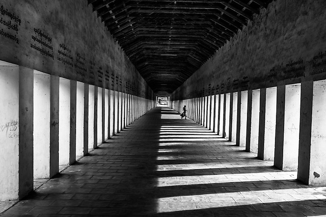 A girl runs through Shewzigon Temple, Bagan, Myanmar (Quinn Ryan Mattingly)