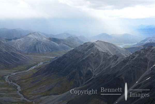 A rainstorm passes over the Brooks Range in Alaska's Arctic National Wildlife Refuge. (Edward Bennett)
