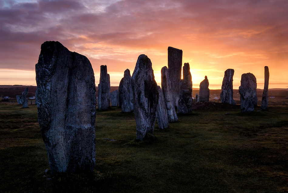 LEWIS AND HARRIS, SCOTLAND - CIRCA APRIL 2016: Sunrise the famous Callanish Stones in Outer Islands of Lewis and Harris in Scotland. (Daniel Korzeniewski)