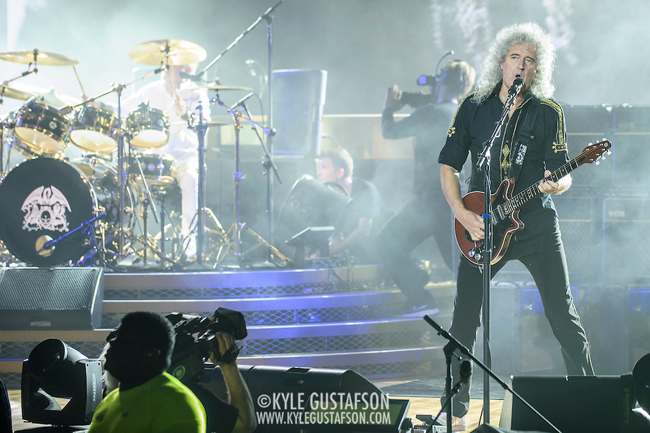 COLUMBIA, MD - July 20th, 2014 - Brian May of Queen performs at Merriweather Post Pavilion in Columbia, MD. (Photo by Kyle Gustafson / For The Washington Post) (Kyle Gustafson/For The Washington Post)