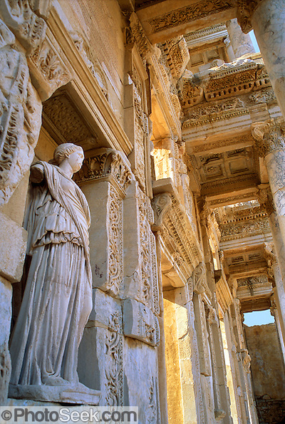 Ephesus, Turkey: the Library of Celsus, built 114 AD