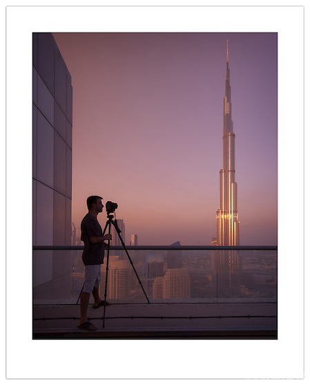 Photographer Catalin Marin and the Burj Khalifa ( 2012 Ian Mylam)