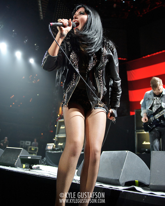 WASHINGTON, DC - May 10th, 2012 - Alexis Krauss of indie-rock duo Sleigh Bells performs at the Verizon Center in Washington, D.C. (Photo by Kyle Gustafson) (Kyle Gustafson)