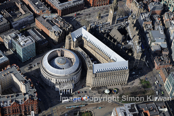 Manchester Central Library from the Air - Aerial Photography by Simon Kirwan
