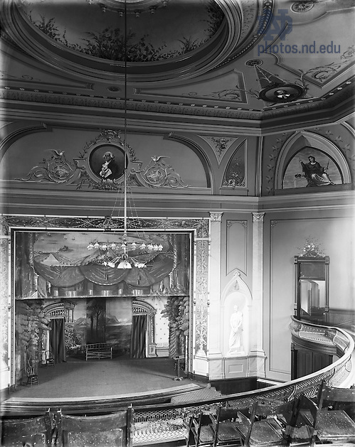 GGPN 15/13:  Washington Hall interior, c1890s. (University of Notre Dame Archives)