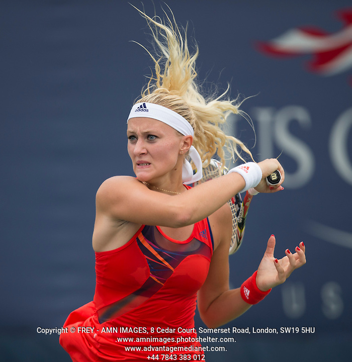 Kristina Mladenovic Tennis - US Open  - Grand Slam -  Flushing Meadows  2013 -  New York - USA - United States of America - Monday 26th August 2013.  © AMN Images, 8 Cedar Court, Somerset Road, London, SW19 5HU Tel - +44 7843383012 mfrey@advantagemedianet.com www.amnimages.photoshelter.com www.advantagemedianet.com www.tennishead.net (FREY - AMN IMAGES)