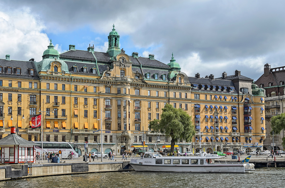 View of the boulevard Strandvägen in Östermalm in central Stockholm, Sweden (Marianne A. Campolongo)