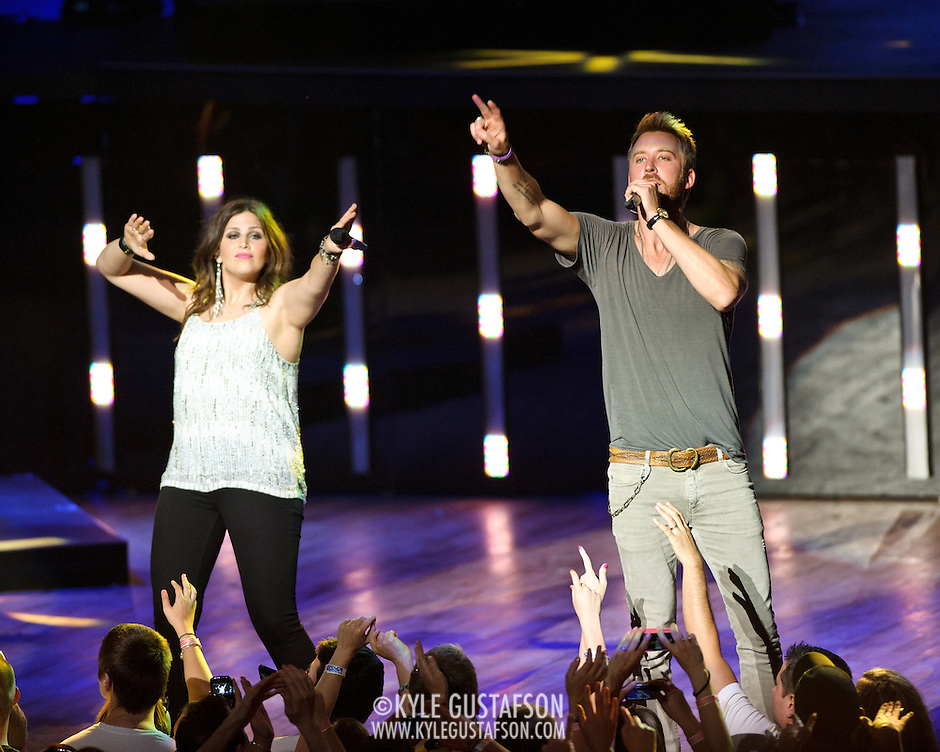 COLUMBIA, MD -  May 20th, 2012 - Hillary Scott and Charles Kelley of the Grammy Award-winning group Lady Antebellum perform to a packed house at Merriweather Post Pavilion in COlumbia, MD.  The group's last album, We Own The Night, reached #1 on the US Billboard 200. (Photo by Kyle Gustafson/For The Washington Post) (Kyle Gustafson/For The Washington Post)