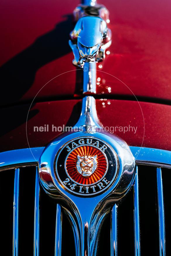 Humber Bridge, Hessle, East Yorkshire, United Kingdom, 26 April, 2015. Pictured: East Yorkshire Thoroughbred Car Club. Pictured: Jaguar 2.4 Litre (Neil Holmes)