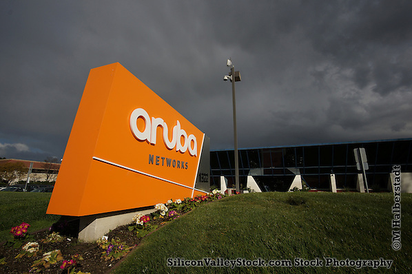 Sunnyvale, California, 02 March 2015: Hewlett-Packard is acquiring networking company Aruba Networks (Michael Halberstadt)