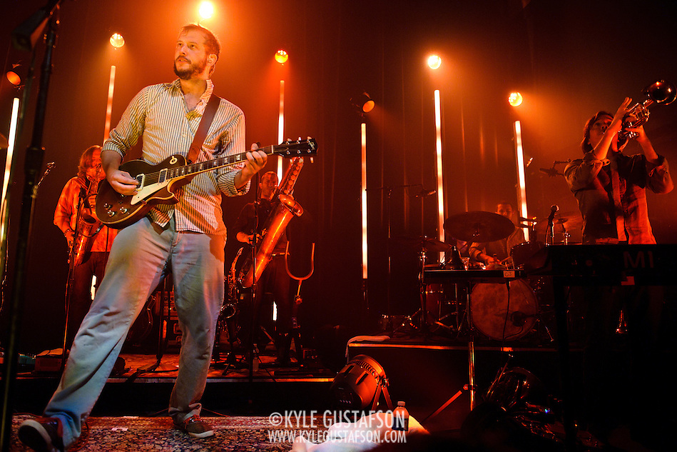 WASHINGTON, DC - August 2nd, 2011 - Justin Vernon of Bon Iver performs at the 9:30 Club. The group's self-titled sophomore album was released in June and reached #2 in the Billboard 200.   (Photo by Kyle Gustafson/FTWP) (Kyle Gustafson/FTWP)