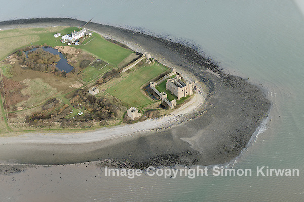 North West Coastal Aerial Survey 2013 - Piel Castle - Aerial Photography By Simon Kirwan wwww.aerial-photographer.co.uk