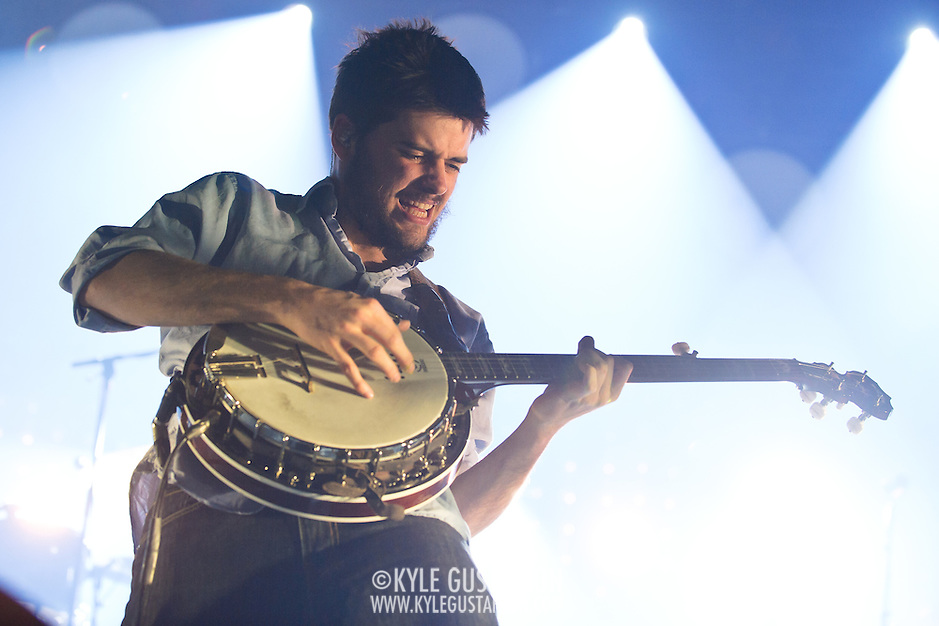 FAIRFAX, VA - February 13th,  2013 - Winston Marshall of British folk outfit Mumford &amp; Sons performs at the Patriot Center in Fairfax, VA.  The band's sophomore album, Babel, debuted at number one on both the UK and US album charts and recently won the 2013 Grammy for Album of the Year. (Photo by Kyle Gustafson/For The Washington Post) (Kyle Gustafson/For The Washington Post)