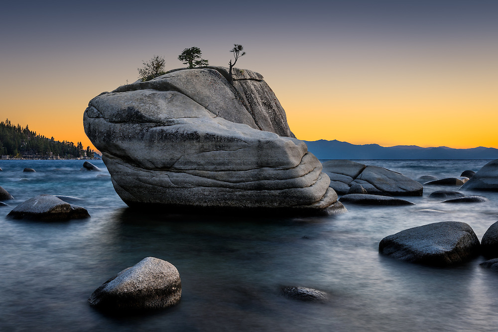 Bonsai Rock on the Nevada side of South Lake Tahoe (Doug Oglesby)