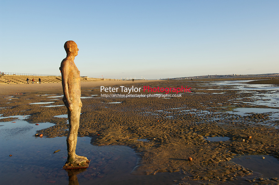 Another place is by angel of the north artist Antony Gormley, it consists of 100 life size figures cast in iron, they have locally become known as the iron men or the Mersey (Peter Taylor)
