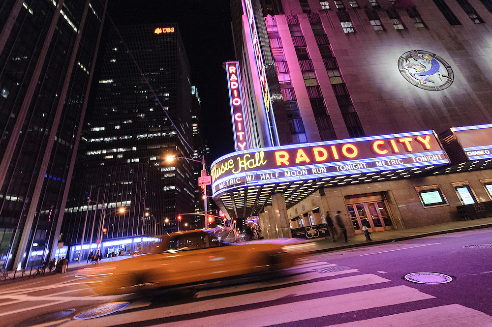 Photos of the band Metric performing live at Radio City Music Hall, NYC. September 23, 2012. Copyright © 2012 Matthew Eisman. All Rights Reserved. (Photo by Matthew Eisman/Getty Images)