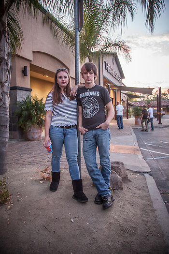 Friends Arianna Fox and Gabe Duncan at The Father's House in Vacaville, CA. during Clark and Mitzi's move from Anchorage, Alaska to Calistoga, California, September, 2015  arimf67@icloud.com (© Clark James Mishler)