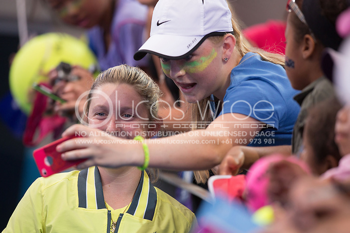 Storm Sanders (AUS), April 20, 2014 - TENNIS : Fed Cup, Semi-Final, Australia v Germany. Pat Rafter Arena, Brisbane, Queensland, Australia. Credit: Lucas Wroe (Lucas Wroe)