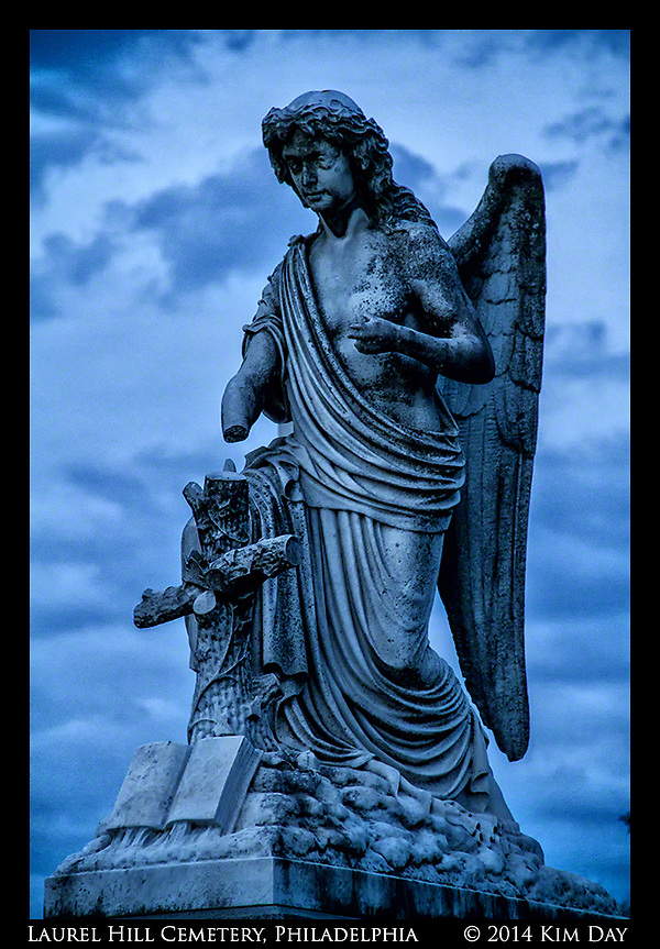 Blue Hour At Laurel Hill Cemetary Philadephia, PA July 2014 (Kim Day)
