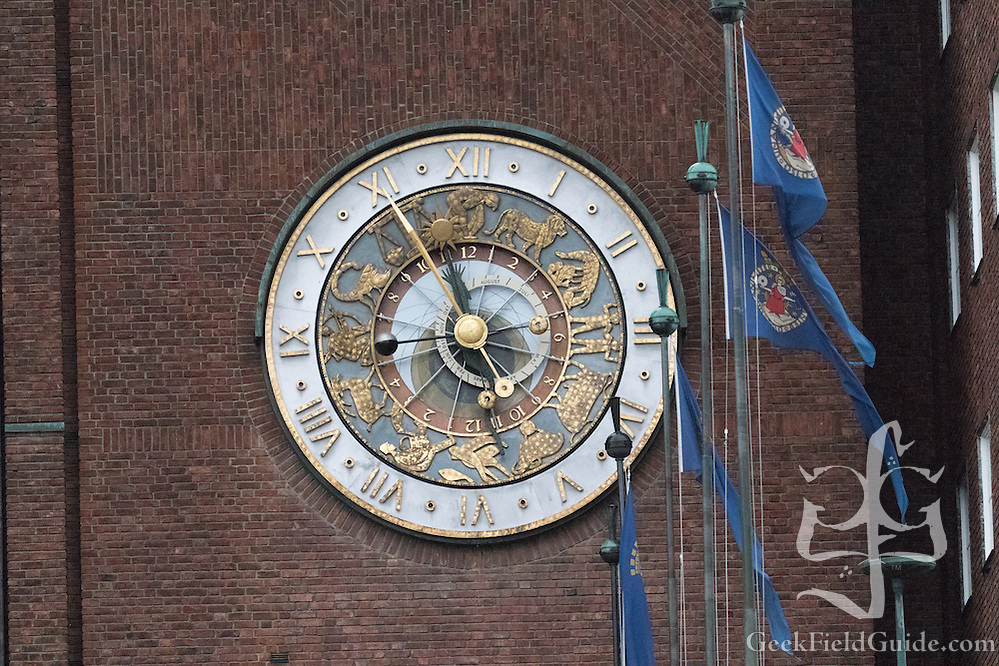 Zodiac-Themed Clock on Oslo City Hall (Warren Schultz)
