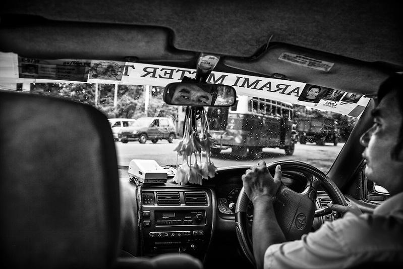A taxi driver in Yangon, Myanmar. (Quinn Ryan Mattingly)