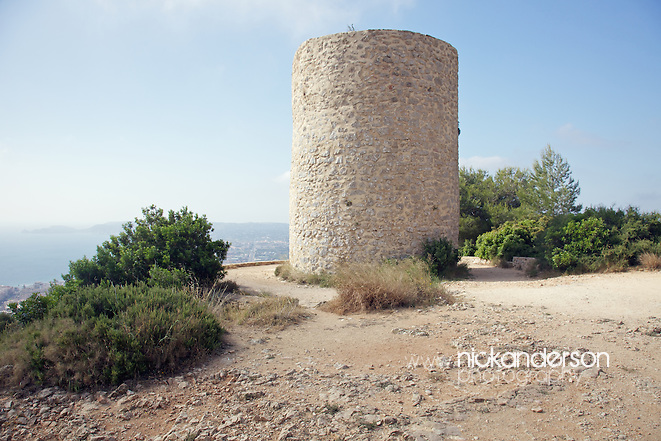 The stone remains of one of several windmills built along the La Plana ridge above the town of Xàbia / Jávea between the 14th and 18th centuries (Nick Anderson)