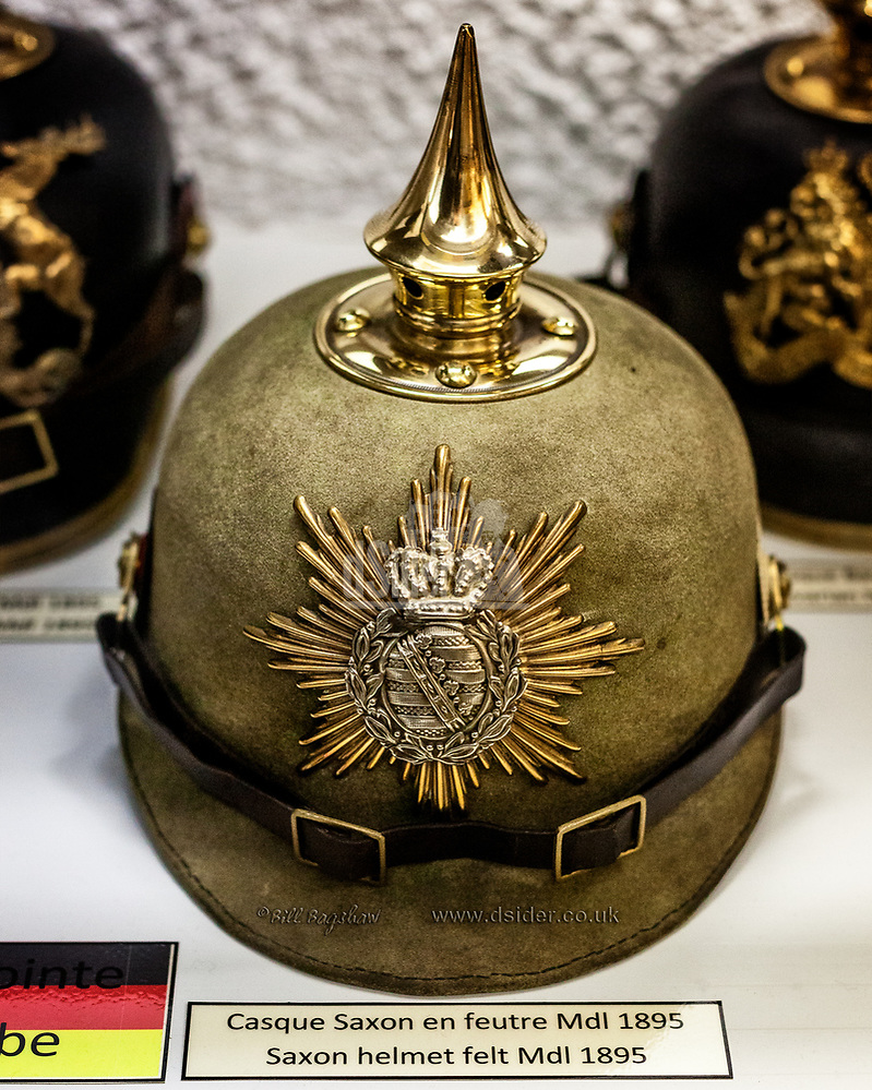 German First World War Saxon Helmet World War 1 German Helmet (copyright Bill Bagshaw/M.Williams all rights reserved)