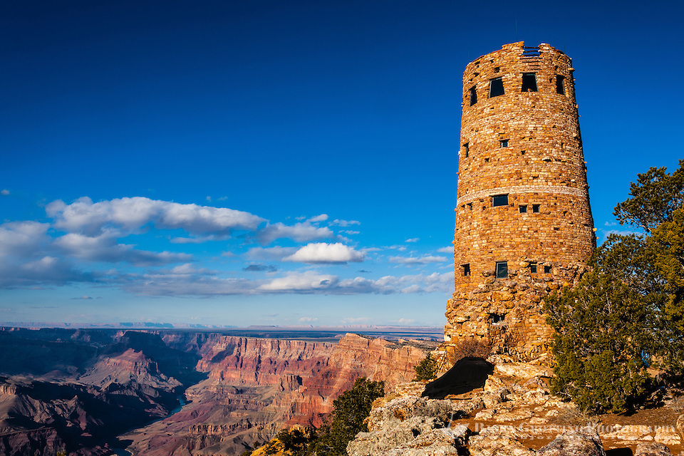 United States, Arizona, Grand Canyon. Desert View Watchtower, also known as the Indian Watchtower at Desert View. (Photo Bjorn Grotting)
