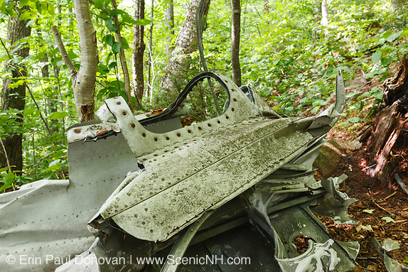 Crash site of B-18 Bomber on Mount Waternomee in Woodstock, New Hampshire USA. Crashed on January 14, 1942. Out of seven crew members, five survived the crash and were able to remove themselves from the wreckage.