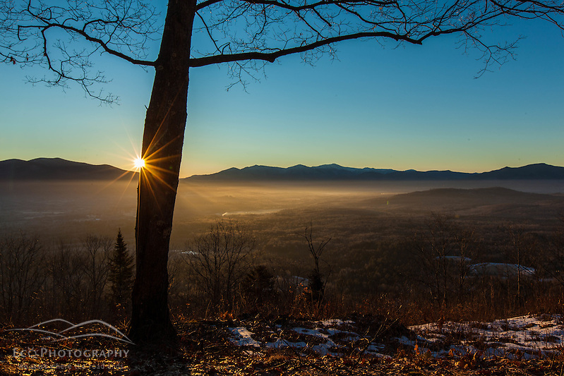 Sunrise from Mount Prospect in Weeks State Park in Lancaster, New Hampshire. (Jerry and Marcy Monkman)