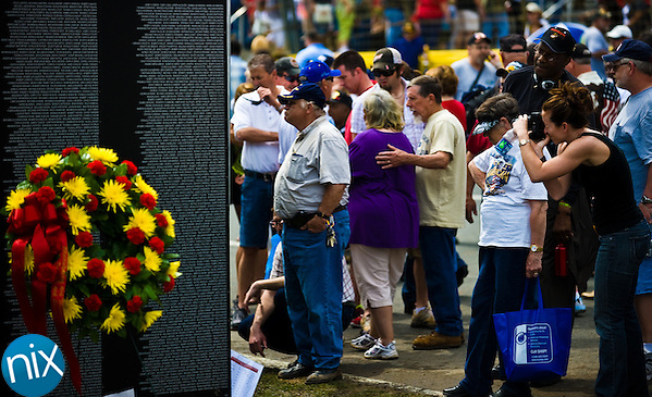 The Vietnam Veterans Homecoming Celebration at Charlotte Motor Speedway in Concord on March 31, 2012. (James Nix)