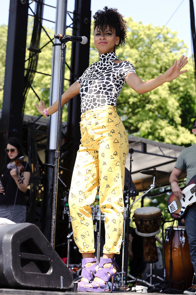 Photos of the band Escort performing at The Great GoogaMooga festival at Prospect Park in Brooklyn, NY. May 20, 2012. Copyright © 2012 Matthew Eisman. All Rights Reserved. (Photo by Matthew Eisman/WireImage)