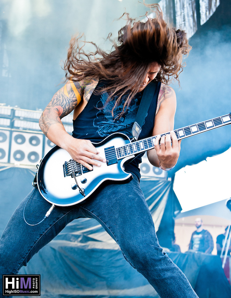 As I Lay Dying performing at Heavy MTL 2011 in Montreal, QC. (Golden G. Richard III)