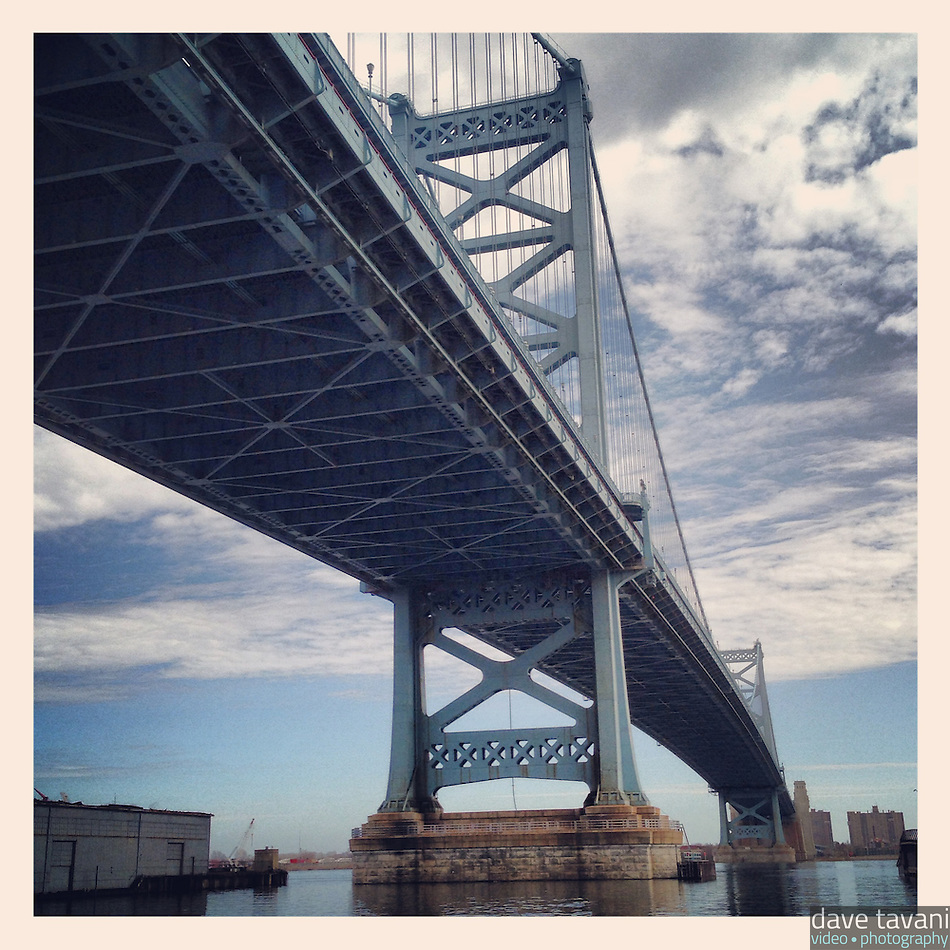The Ben Franklin Bridge as seen from the Race Street Pier on March 10, 2013. (Dave Tavani)