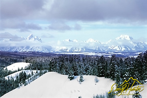 The Grand Tetons from Togwotee Pass