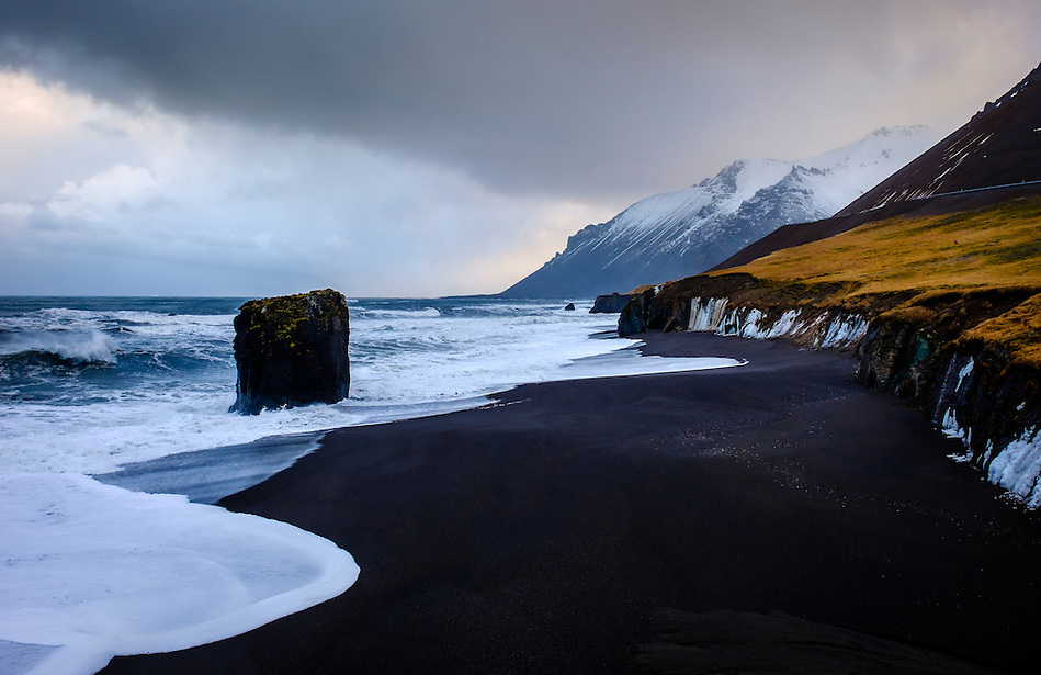 ICELAND - CIRCA MARCH 2015: Rugged coastline close to Hofn in East Iceland during winter time. (Daniel Korzeniewski)