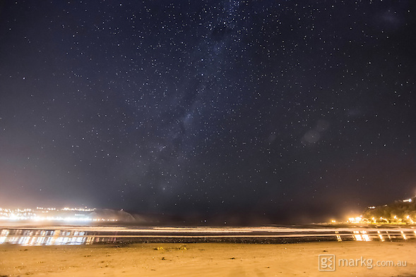 3rd stop as part of the International Dark Sky Week photo project at Lyall Bay. This was the first time we got a faint glimpse of The Milky Way, although there was still alot of light pollution coming mainly from the airport and street lights. (Mark Gee)