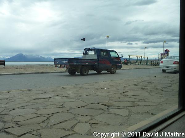Black Flag Protesters Patrol the streets of Puerto Natales (David J Mathre)