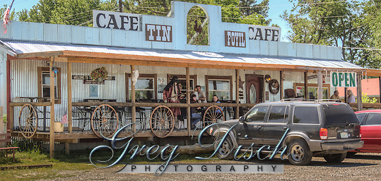 The Tin Foyl Cafe located on Route 66 in Foyl Oklahoma. (Greg Disch)