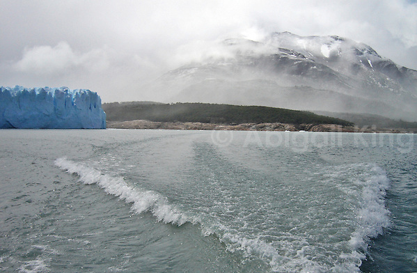 Leaving Perito Moreno Glacier in Argentina by Boat