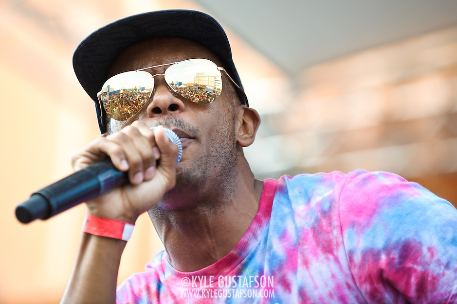 WASHINGTON, DC - August 11th, 2012 -  Tabi Bonney looks over the crowd as he performs at the inaugural Trillectro Festival at the Half Street Fairgrounds in Washington, D.C. The festival was a combination of hip-hop and dance acts, bringing together fans of both genres.  (Photo by Kyle Gustafson/For The Washington Post) (Kyle Gustafson/For The Washington Post)