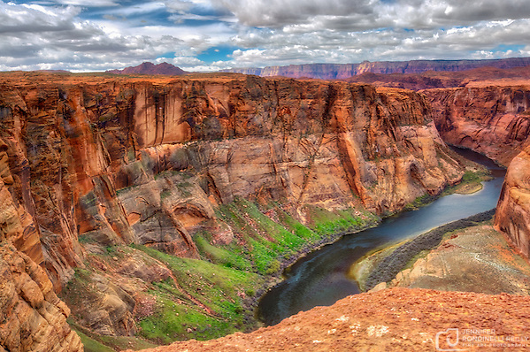 Horseshoe Bend is located near Page, AZ about 5 miles from Grand Canyon National Park. This awe inspiring bend in the Colorado River is a must see! (Jennifer Rondinelli Reilly)