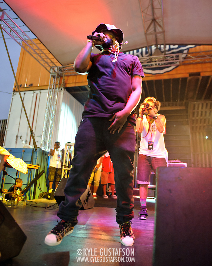 WASHINGTON, DC - August 11th, 2012 - Underground hip-hop sensation Schoolboy Q performs at the inaugural Trillectro Festival at the Half Street Fairgrounds in Washington, D.C. His main stage set drew the day's largest crowd despite a light rain towards the end of his set. (Photo by Kyle Gustafson/For The Washington Post) (Kyle Gustafson/For The Washington Post)