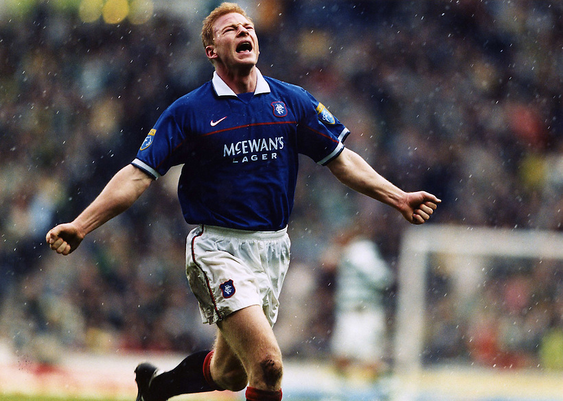 JORG ALBERTZ CELEBRATES SCORING FOR RANGERS AGAINST OLD FIRM RIVALS CELTIC, ROB CASEY PHOTOGRAPHY (ROB CASEY/ROB CASEY PHOTOGRAPHY)