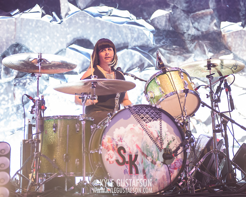 WASHINGTON, DC - February 24, 2015 - Janet Weiss of Sleater-Kinney performs during the first of two sold-out shows at the 9:30 Club in Washington, D.C. The band, on hiatus since 2006, reunited late in 2014 and recently released No Cities to Love, their first album in almost 10 years. (Photo by Kyle Gustafson / For The Washington Post) (Kyle Gustafson/For The Washington Post)