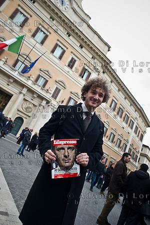 ROMA 15/03/2012: Inizia la XVII Legislatura della Repubblica Italiana. L'ingresso degli Onorevoli a Montecitorio. Nella foto Edoardo Falucci PD  FOTO DI LORETO ADAMO (DI LORETO)